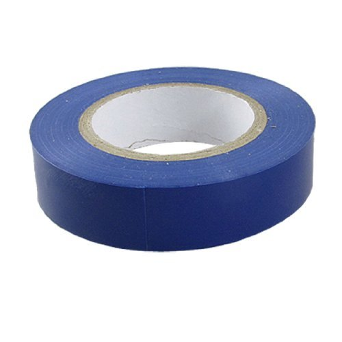Royal Blue Tape (Amico PVC draad isolatie splicing tape zelfklevend, 18 m lengte x 17mm breedte, Royal Blue)