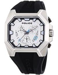 Police HUNTER P13837JS-04 - Reloj cronógrafo de cuarzo para hombre, correa de cuero color negro (cronómetro)