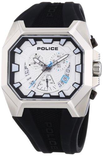 Police Herren-Armbanduhr HUNTER Chronograph Quarz Leder P13837JS-04