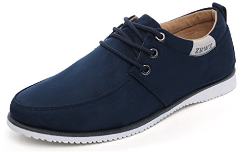 DADAWEN Homme Casual Low-Top Suede Bateau Chaussure