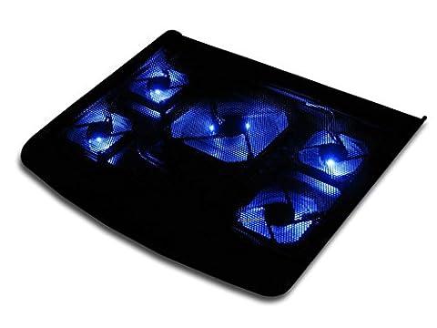 Laptop Notebook Kühler 5 Lüfter Kühlpad Cooler Ständer für 15