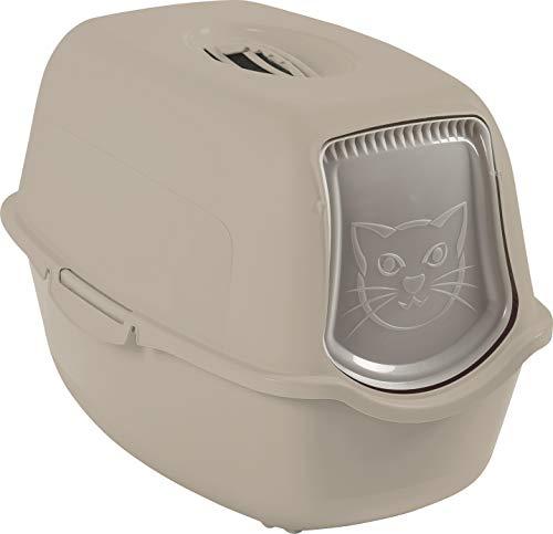 Sundis Litière pour Chat Taupe, Maison de Toilette avec Filtre Anti Odeur et Poignée