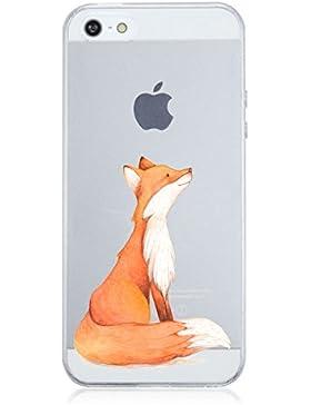 iPhone SE Caso caler® Trasparente Ultra Slim Custodia Morbido Flessibile Crystal Clear Premium TPU Silicone Bumper...