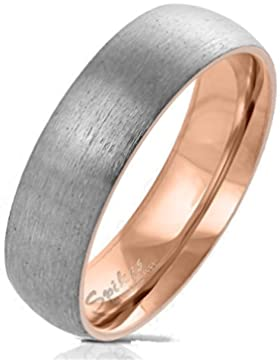 Paula & Fritz® Gebürsteter Titan-ring Titanium 6mm breit Damen-ring Verlobungs-ring Freundschaftsring Herrenring...