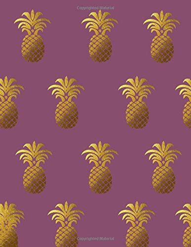 Pineapples for Days: (8.5X11) Purple Dot Grid Notebook Journal Composition Book for People who Love Pineapples, Hawaii, the Beach, Gift for Friends ... a Tropical Vacation (Paradise Vibes, Band 14)