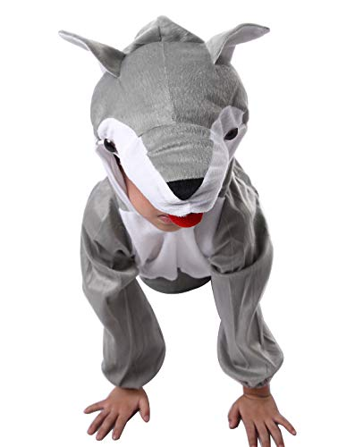 Wolf Kostüm Für Kleinkinder - Happy Cherry Kinder Tierkostüm Einteiler