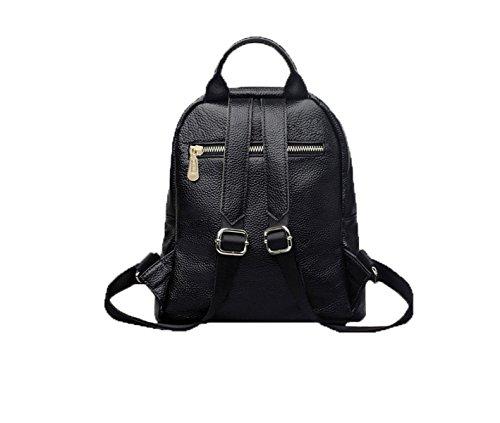 PACK Borsa A Tracolla In Cuoio Zipper Grande Corsa Zaino Semplice Zaino Da Viaggio,Black Black