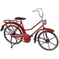 Deko Fahrrad - Mini Bicycle - 25 x 8 x 18cm - handbemalt mehrfarbig mit Antik-Effekt - tolle Wohndeko oder für Radfahrer Geschenke