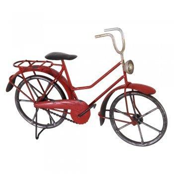 CIM Deko Fahrrad - Mini Bicycle - 25 x 8 x 18cm - handbemalt mehrfarbig mit Antik-Effekt - tolle Wohndeko oder für Radfahrer Geschenke -