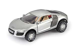 SIMM Spielwaren Darda 50373 - Darda Auto Audi R 8 mit aufklappbare Türen silber, ca. 9 cm