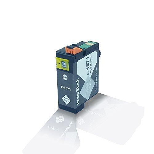 Kompatible Tintenpatrone Photo Black für Epson Stylus Photo R3000 R 3000 Black Noir T1571 T 1571 C13T15714010 - Eco Office Serie - Kompatible Tintenpatrone Photo