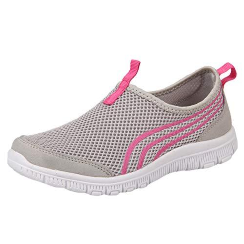 ZIYOU Basketballschuhe Damen Frauen Mesh Atmungsaktive Sneakers Casual Sports Laufschuhe Müßiggänger Weiche Schuhe(Grau,39 EU)