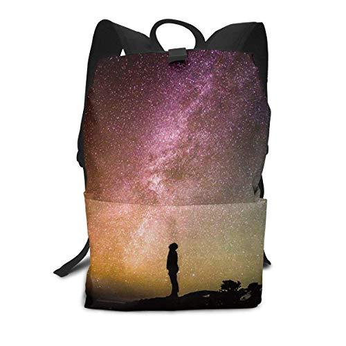 Blick nach Oben in den Nachthimmel Rucksack Mitte für Kinder Jugendliche Schule Reisetasche -