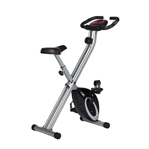 Ultrasport Cyclette F-Bike con sensori polso  Una piccola cyclette che diventa assolutamente grande. Grazie alla raffinata tecnica di ribaltamento pu? essere sistemata nell'angolo pi? piccolo risparmiando spazio. Altrettanto rapidamente ? a disposizi...