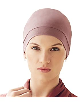 Gorro Laura de algodón viscosa Soft Touch - color rosa pálido