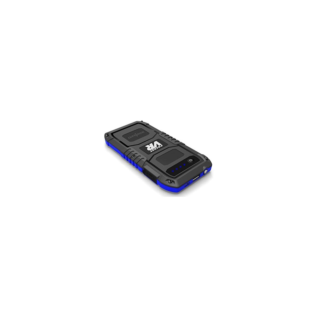41 k4nmih9L. SS1200  - Minibatt - Jump Starter Batería Arrancador de Coche (Batería Externa Recargable, LED Flashlight, Multifunción, Con pinzas inteligentes)