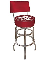 NCAA Texas A&M University Padded Swivel Bar Stool with Back by Trademark Gameroom