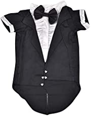 Douge Couture Tuxedo for Dogs (Black, 30)