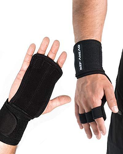 REP AHEAD® Wodsters 2.0 - Workout Wunder - Der echte 2-in-1 Handschutz für Crossfit Athleten (Extra bequem + stabil)
