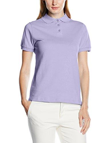Intimuse Damen Poloshirt, Kurzarm, Violett (Lila 022), Small