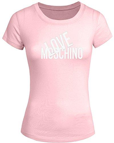 love-moschino-2016-per-da-donna-a-manica-corta-con-stampa-tops-t-shirts-pink-small