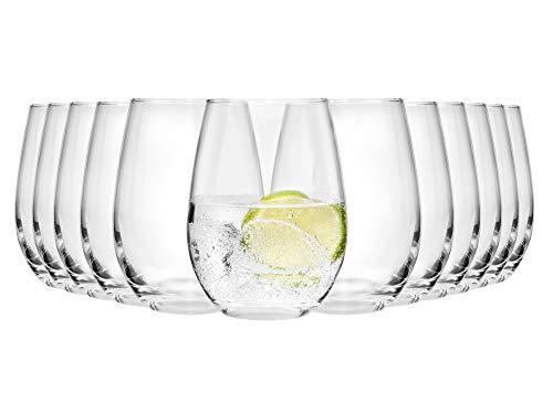 Bluespoon Gläser Set Salto 12 teilig | Füllmenge 600 ml | Einzigartig in der Form | Perfekt geeignet für den alltäglichen Gebrauch