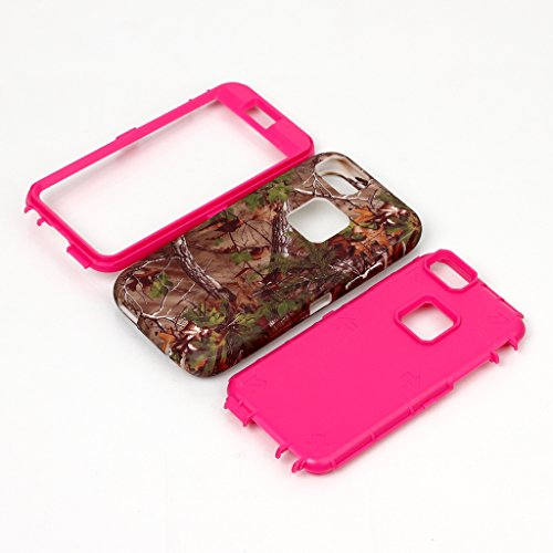 JNTworld iphone 6 6s case Dual Layer Scratch Resistant antichoc Couverture, vert rose