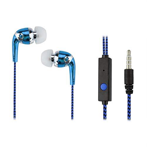 Busirde In-Ear-Faser-Tuch Draht Stereo In-Ear-Kopfhörer Earbuds Kopfhörer (Tuch Draht)