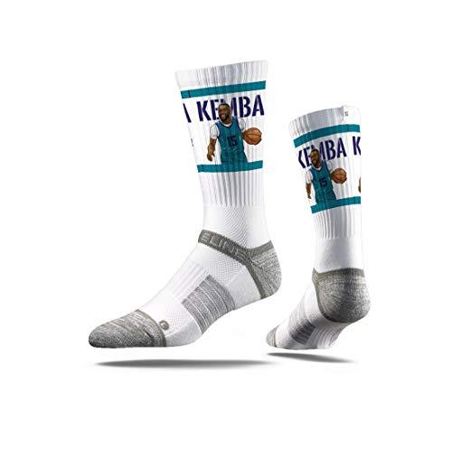 Strideline NBA Charlotte Hornets Kemba Walker Action Premium Athletic Crew Socks, Schwarz, Einheitsgröße