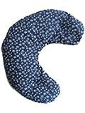Ciambella con noccioli di ciliegia lavabile peso 1 kg Realizzato a mano in Trentino (Blu stella alpina)