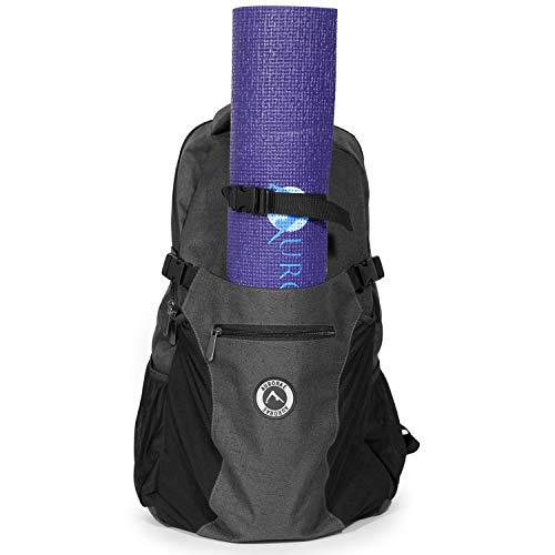 Aurorae Yoga Mehrzweck-Rucksack. Matte separat erhältlich, dunkelgrau