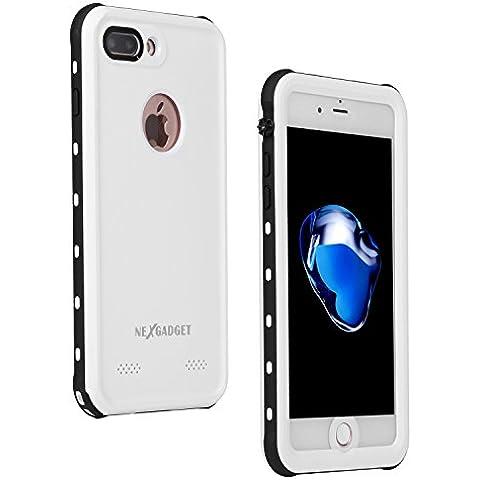NEXGADGET Funda Impermeable IP68 iPhone 7 Anti-Impacto Funda Protectora 4.7 pulgadas a Prueba de Polvo / Nieve / Agua para Practicar Deportes de Agua, la Playa o Estar en la Piscina ( Blanco