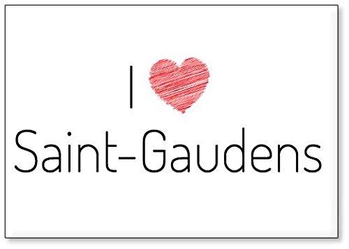 Mundus Souvenirs - Ich Liebe Saint-Gaudens, Kühlschrankmagnet (Design 3) -