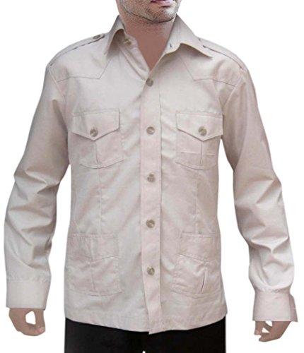 Bush Womens Light T-shirt (INMONARCH Herren Safari Licht Khakhi Baumwolle 4Pocket Bush Shirts HS108 Gr. Large, Light-Khakhi)