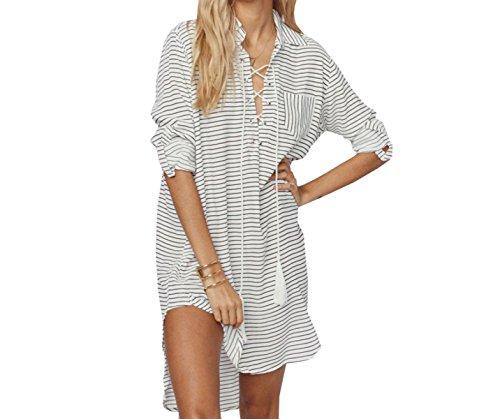KUWOMINI.Europe Und Die Vereinigten Staaten Bettwäsche Strandmantel Bikini Bluse Weibliche Reise Lange Ärmel War Dünne Kleidung Sonne,BlackAndWhite-AllCode
