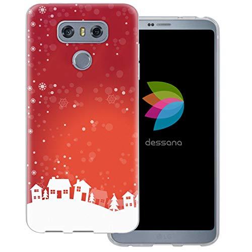 dessana Weihnachten Pattern transparente Schutzhülle Handy Case Cover Tasche für LG G6 Weihnachtsdorf
