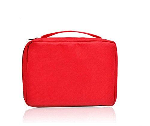 Boîte De Stockage De Sac De Stockage De Sac De Lavage Portable De Poche De Sac étanche à L'eau Cosmétique Voyage,Red