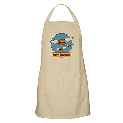 (CafePress Bob 's Burger Flying Burger–Küche Schürze mit Taschen khaki)