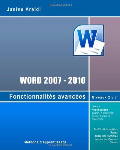 Word 2007-2010: Niveaux Maîtrise et Avancé