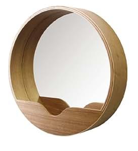 Zuiver 8100002 specchio rotondo da parete 40 x 8 x 40 for Specchio da parete camera amazon