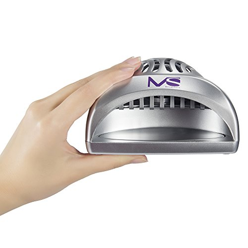 41 kDF1y5OL - MelodySusie Nail Dryer Portable Mini Fan Nail Lamp - Handy and Compact for Drying Regular Nail Polish Battery Operated (Silver)