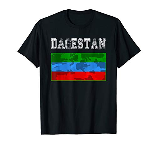 Dagestan Flagge, Dagestanischer Kämpfer T-Shirt -