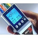 TESMED MAX 5, Elettrostimolatore Muscolare 4 Canali, 12 Elettrodi : Sport, Fitness,Estetica,Addominali Unisex – Adulto, Argento Blu