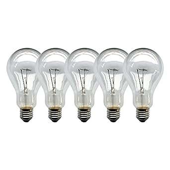 5 x light bulbs 200 w e27 clear bulbs 200 watt incandescent bulb lighting. Black Bedroom Furniture Sets. Home Design Ideas