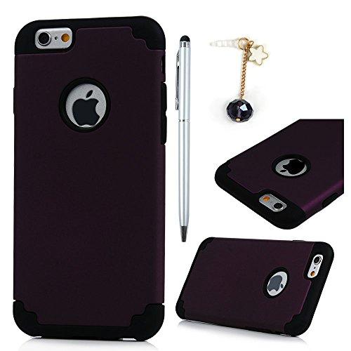 iPhone 6 Plus / 6s Plus Custodia 2 en 1 Gomma Silicone TPU Gel e Rigida Plastica PC Hard 5.5