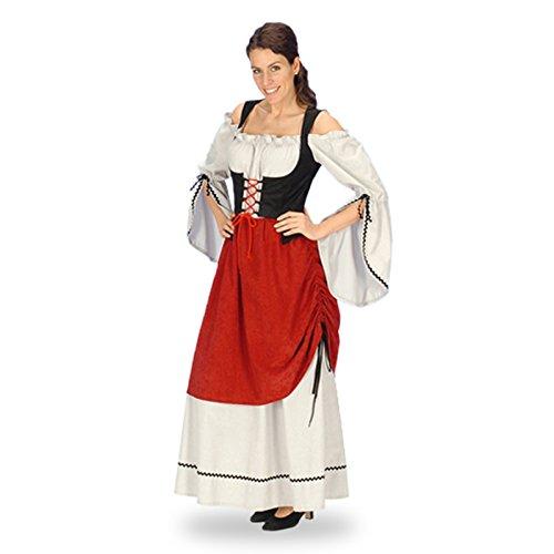 Moyen Âge - Robe Médiévale - Déguisement Servante Femme - 44/46