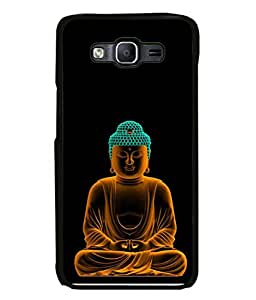 FUSON Designer Back Case Cover for Samsung Galaxy E5 (2015) :: Samsung Galaxy E5 Duos :: Samsung Galaxy E5 E500F E500H E500Hq E500M E500F/Ds E500H/Ds E500M/Ds (Sai Baba Sitting On The Rock)