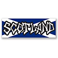 DestinationVinyl 2 x 15cm/150mm Scotland Flag WINDOW CLING STICKER Car Van Campervan Glass #4145