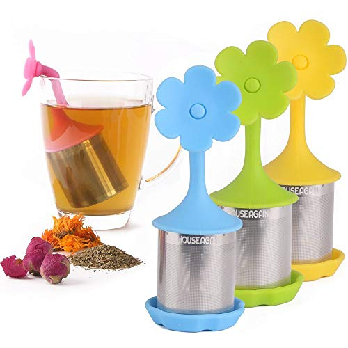 Fine Mesh Tea Infuser, Pack of 4, Perfect Tea Ball Tea Strainer Reusable Tea Filter for All Types of Loose Leaf Tea by House Again