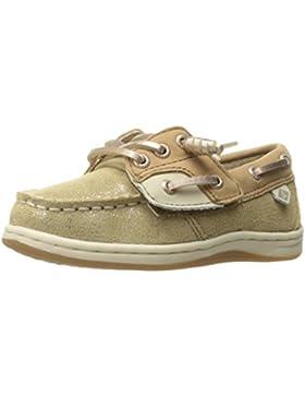 Zapato n¨¢utico JR Songfish para ni?as, lino / oro, 10 ni?os peque?os de los EE. UU.